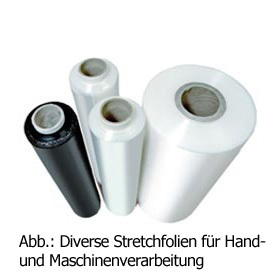 Maschinen-Stretchfolie, POWER 280%, transp., St.: 23 µ, B: 500 mm, L= 1.500 m